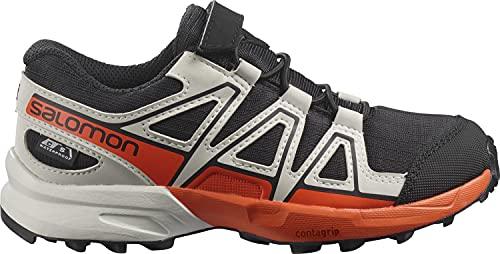 Salomon Speedcross Climasalomon™ Waterproof (impermeable) Kids niños Zapatos de trail running, Negro (Black/Lunar Rock/Cherry Tomato), 28 EU