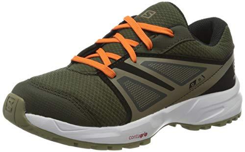 Salomon Sense CSWP Zapatillas Impermeables de Trail Running Senderismo Unisex Niños, Verde (Forest Night/Black/Mermaid), 38 EU