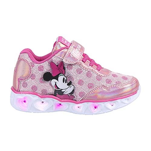 CERDÁ LIFE'S LITTLE MOMENTS, Zapatillas con Luces Niña de Minnie-Licencia Oficial Disney Niñas, Rosa, 26 EU
