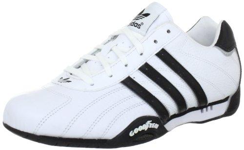 adidas Adi Racer Low - Zapatillas de charol para hombre, Blanco (White / Metallic Silver / Black), 42.6666666667