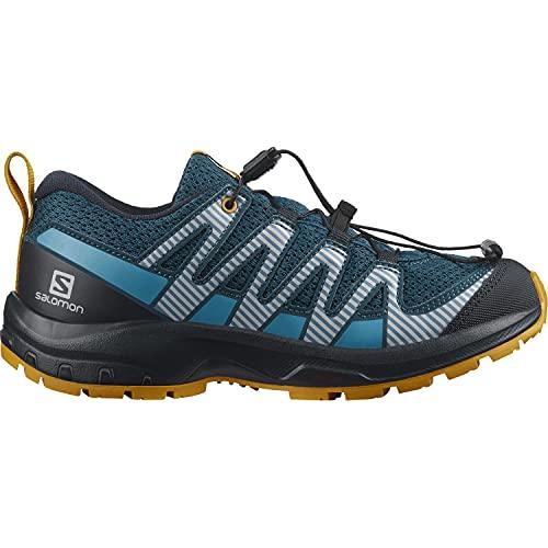 Salomon XA Pro V8 niños Zapatos de trail running, Azul (Legion Blue/Night Sky/Autumn Blaze), 38 EU