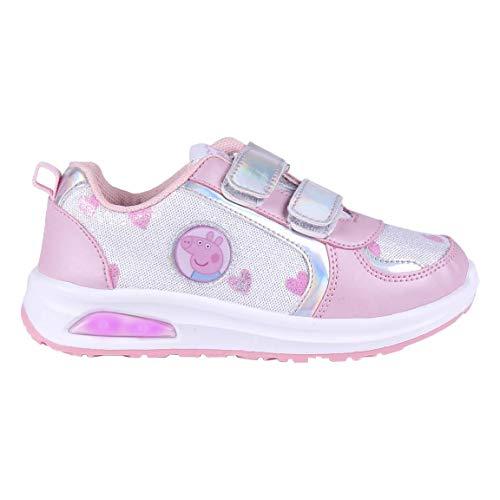 Cerdá Life'S Little Moments Zapatillas con Luces para Niñas de Peppa Pig con Licencia Oficial Nickelodeon, Deportivas, Multicolor, 25 EU