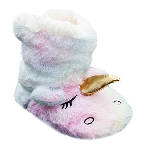 Toocool - Chanclas para niña con diseño de unicornio, zapatillas de piel ecológica Y-6294. Blanco Size: 28-31