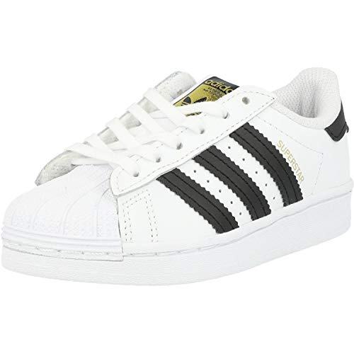 adidas Superstar, Sneaker Unisex-Child, Footwear White/Core Black/Footwear White, 35 EU