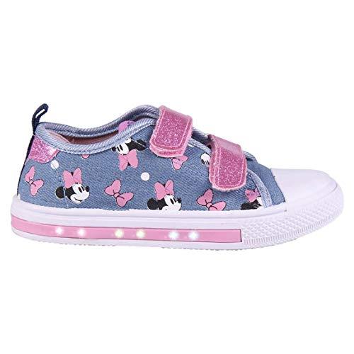 CERDÁ LIFE'S LITTLE MOMENTS 2300004707_T023-C56, Zapatillas Loneta Niña de Minnie Mouse-Licencia Oficial Disney, Azul y Rosa, 23 EU
