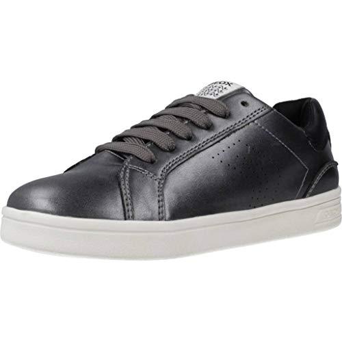 Geox J DJROCK Girl A, Zapatillas sin Cordones Niñas, (Dk Silver C1009), 31 EU