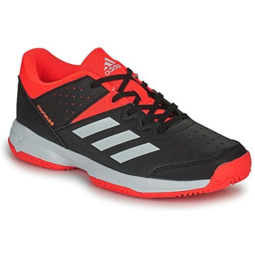 adidas Court Stabil JR, Zapatillas de Running, NEGBÁS/FTWBLA/Rojsol, 34 EU