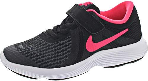Nike Revolution 4 (PSV), Zapatillas Niñas, Negro Black Racer Pink White, 27.5 EU