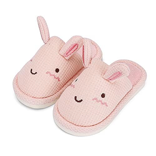 Cheerful Mario Zapatillas de Estar Por Casa Para Niñas Invierno CáLido Felpa Zapatos de Niñita Cómodas Suave Pantuflas Conejo Edad 2-8 años Rosa Caramelo 31/32 EU