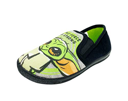 Star Wars Zapatillas mandalorianas Yoda para niños, color Verde, talla 42 2/3 EU