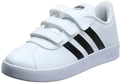 Adidas Vl Court 2.0 Cmf C, Zapatillas de deporte Unisex Niños, Blanco (Ftwr White/Core Black/Ftwr White Ftwr White/Core Black/Ftwr White), 31