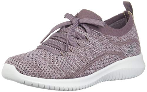 Skechers Ultra Flex, Zapatillas sin Cordones Mujer, Morado (LAV Black Knit Mesh/Trim), 38 EU