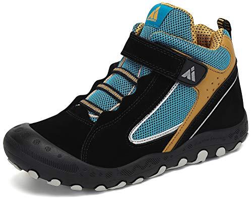 Zapatos de Senderismo Niño Zapatillas de Trekking Niños Zapatos Deportivos Cómodo Transpirable Antideslizante Montaña Al Aire Libre Negro 38