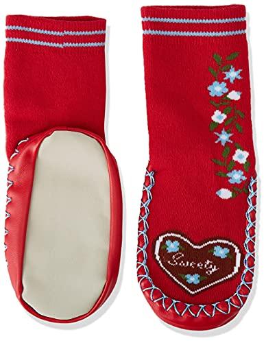 Playshoes Zapatillas con Suela Antideslizante Corazones, Pantuflas Unisex niños, Rojo (Rot 8), 23/26 EU