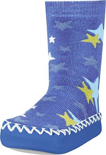 Playshoes Zapatillas con Suela Antideslizante Estrellas, Pantuflas Unisex niños, Azul (Blau 7), 19/22 EU