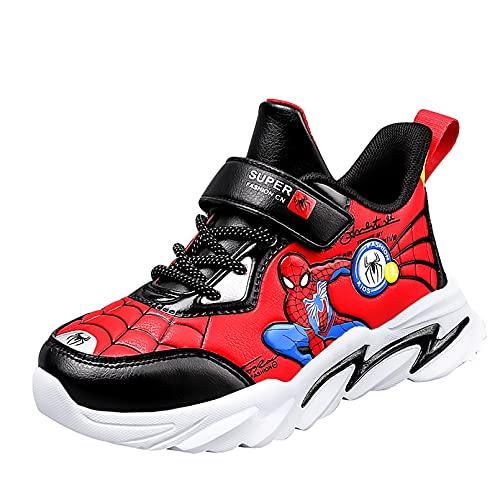 Zapatos Spider-Man Zapatos Deportivos para Niños Calzado Deportivo Infantil Impermeable Y Abrigado (Color : Red, Size : 31)