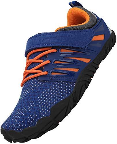 SAGUARO Niña Barefoot Zapatos Niños Antideslizante Zapatillas de Trail Running Minimalistas Zapatillas Deportes Acuáticos Secado Rápido Correr Nadar, Azul 31