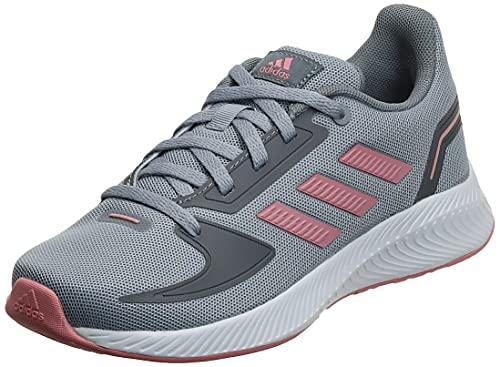 adidas Runfalcon 2.0, Road Running Shoe, Halo Silver/Super Pop/Grey, 37 1/3 EU