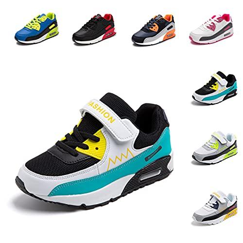 ZapatillasNiño Niña Deportivas Infantil Zapato Deportivos Unisex SneakersCasual Comodos Ligeras TranspirablesZapatos de CorrerAzul 33 EU