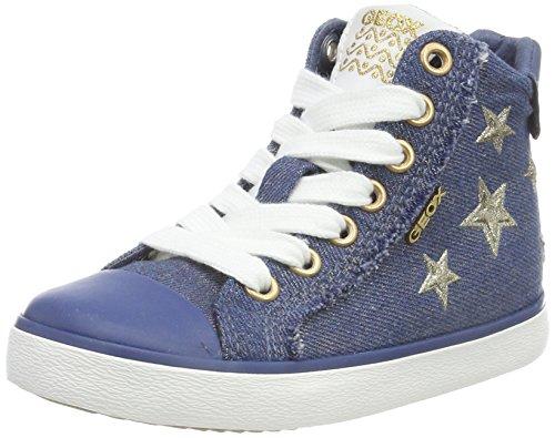 Geox J Kilwi Girl C, Zapatillas Altas Niñas, Azul (Avio), 28 EU