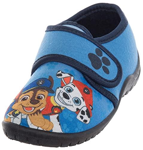Brandsseller Zapatillas de estar por casa para niño, con motivos en el estilo de la Patrulla Canina., azul, 25/26 EU